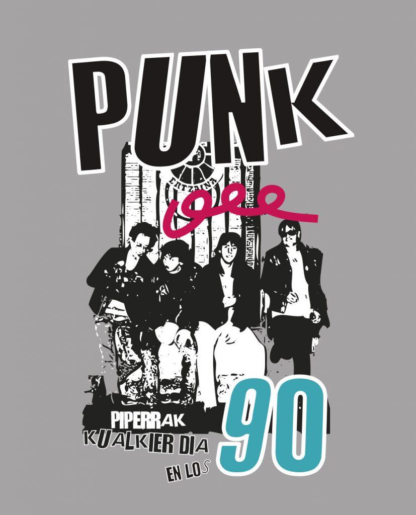 camiseta unisex Bitxobambam punk 90 piperrak