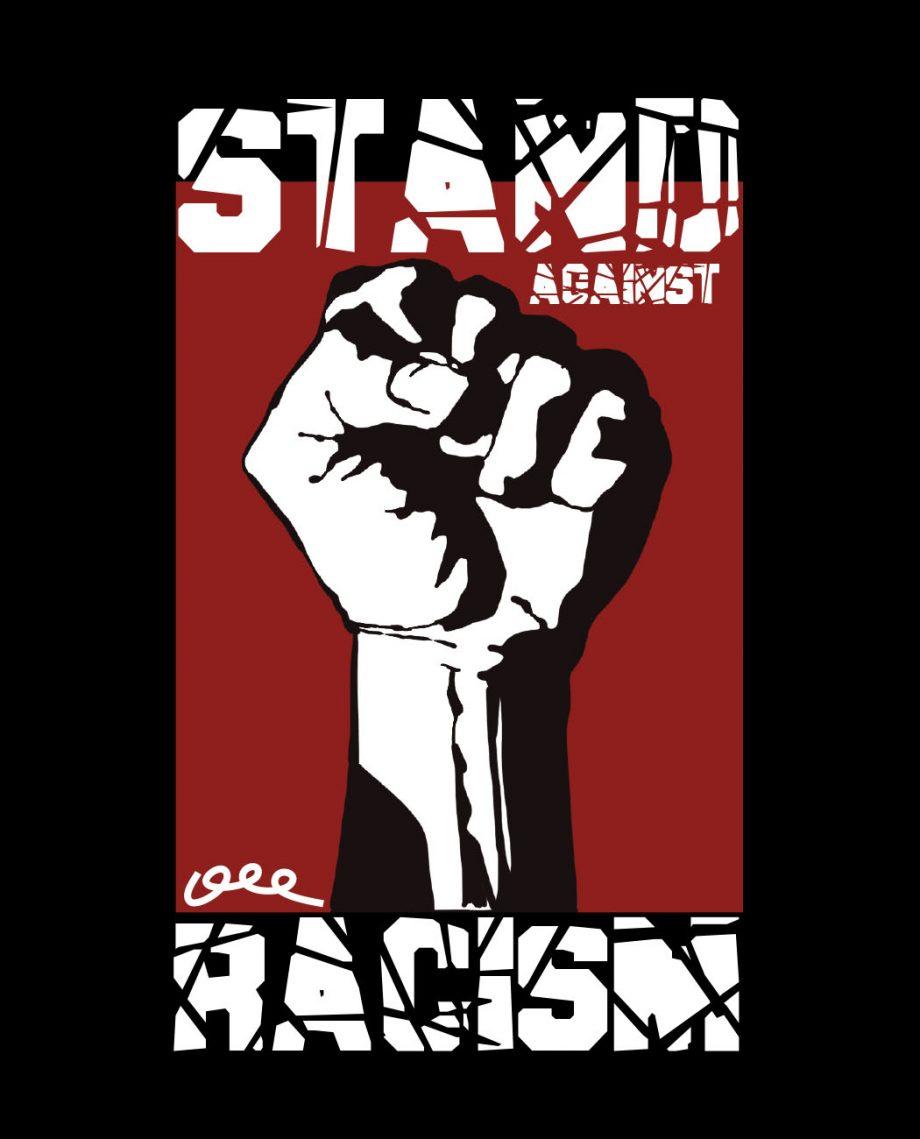 camiseta unisex Bitxobambam aganist racism