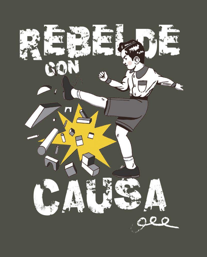 camiseta unisex Bitxobambam rebelde